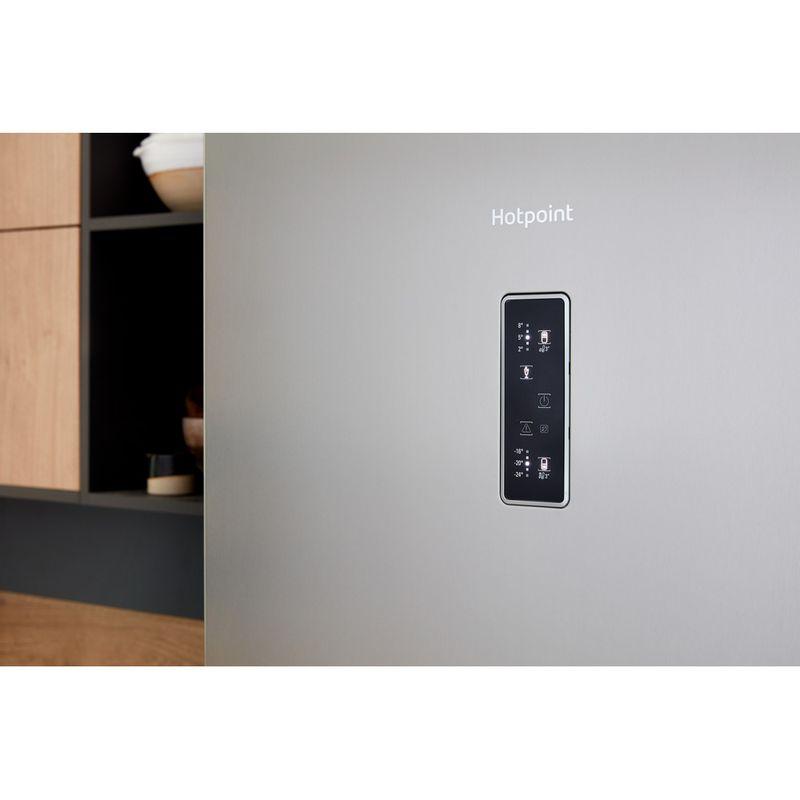 Hotpoint-Fridge-Freezer-Free-standing-NFFUD-191-X-1-Optic-Inox-2-doors-Lifestyle-control-panel