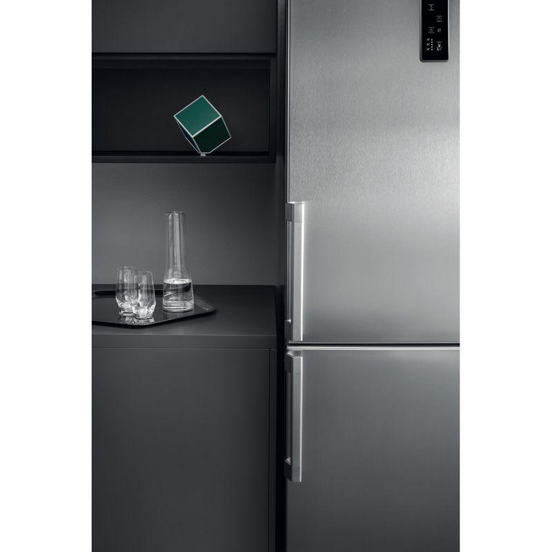 Hotpoint-Fridge-Freezer-Free-standing-NFFUD-191-X-1-Optic-Inox-2-doors-Lifestyle-detail