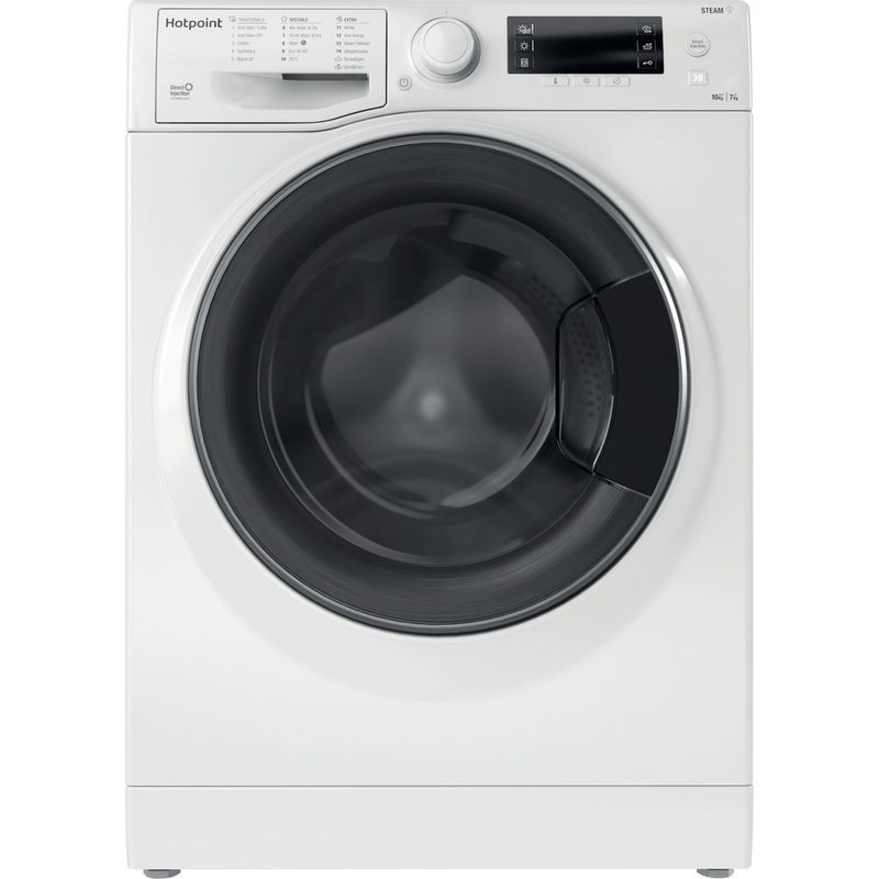 Hotpoint-Washer-dryer-Free-standing-RD-1076-JD-UK-N-White-Front-loader-Frontal