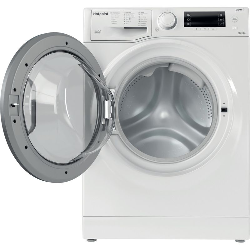 Hotpoint-Washer-dryer-Free-standing-RD-1076-JD-UK-N-White-Front-loader-Frontal-open
