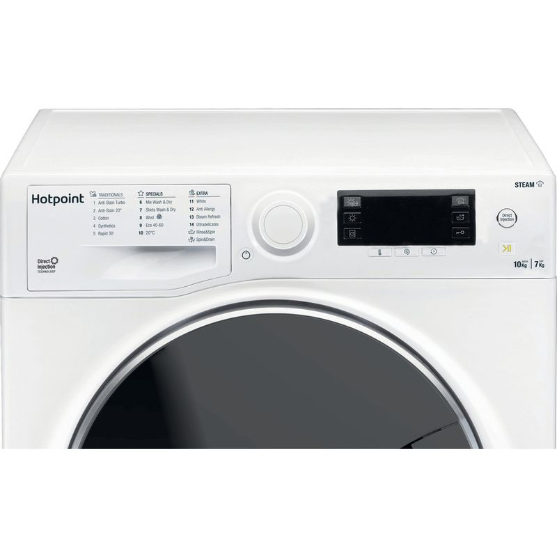 Hotpoint-Washer-dryer-Free-standing-RD-1076-JD-UK-N-White-Front-loader-Control-panel