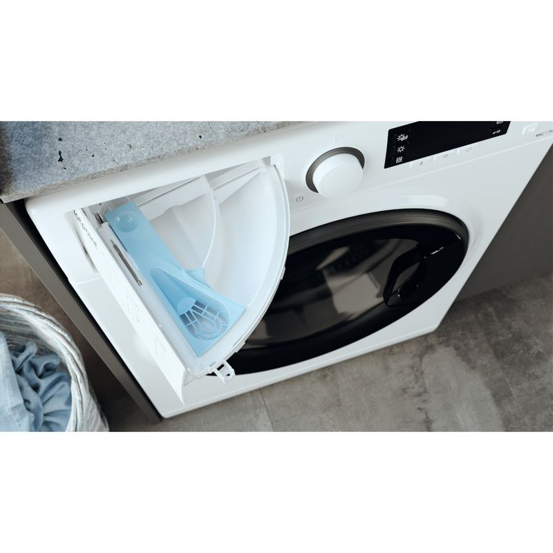 Hotpoint-Washer-dryer-Free-standing-RD-1076-JD-UK-N-White-Front-loader-Drawer