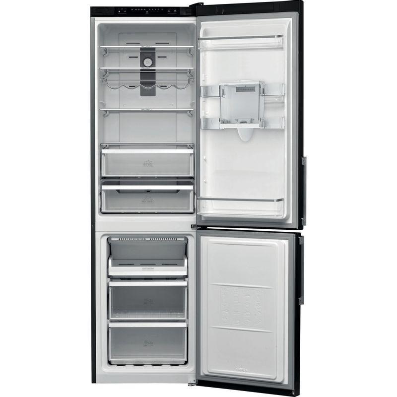 Hotpoint-Fridge-Freezer-Free-standing-H7T-911A-KS-H-AQUA-1-Black-Inox-2-doors-Frontal-open