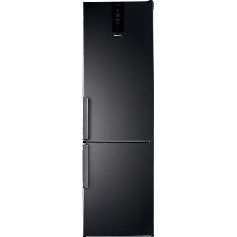 Hotpoint-Fridge-Freezer-Free-standing-H7T-911T-KS-H-1-Black-Inox-2-doors-Frontal