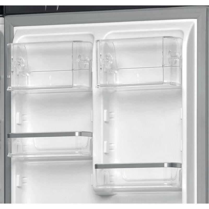 Hotpoint-Fridge-Freezer-Free-standing-H7T-911T-KS-H-1-Black-Inox-2-doors-Drawer