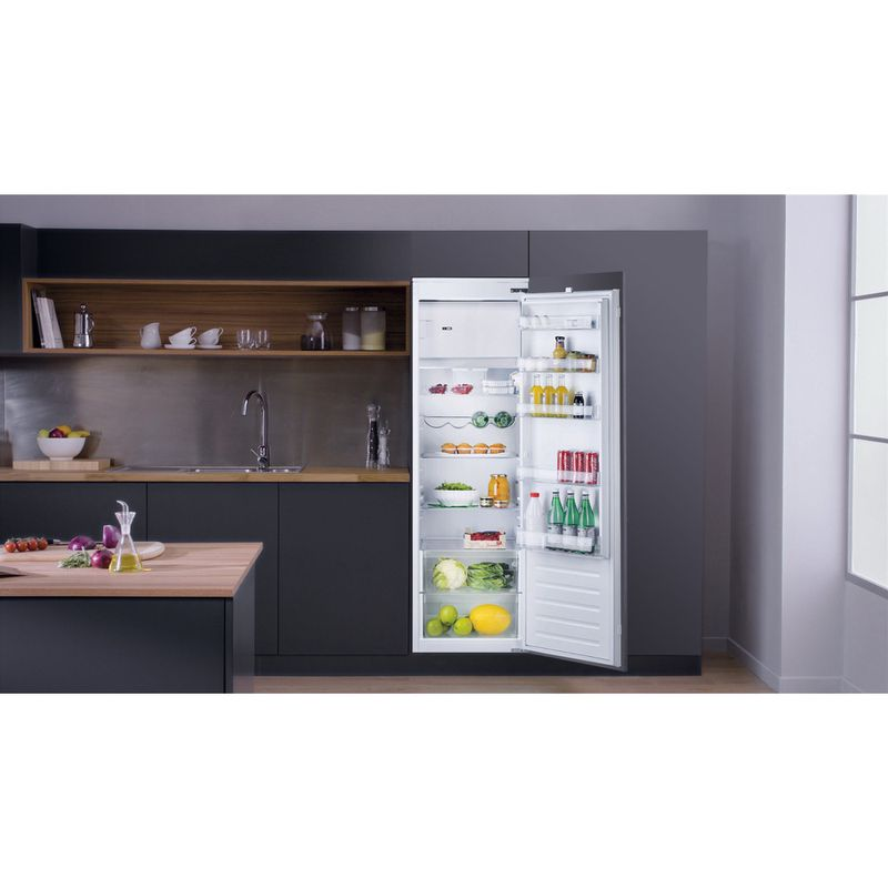 Hotpoint-Refrigerator-Built-in-HSZ-18011-UK-White-Lifestyle-frontal-open