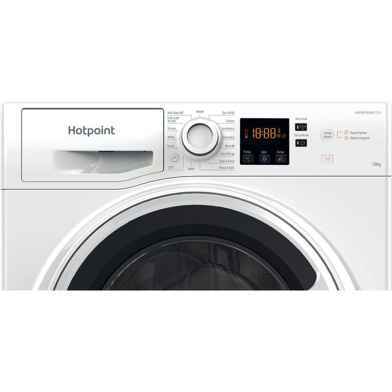 Hotpoint-Washing-machine-Free-standing-NSWA-1043C-WW-UK-N-White-Front-loader-D-Control-panel