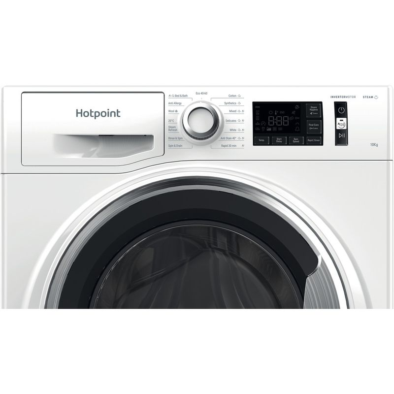 Hotpoint-Washing-machine-Free-standing-NM11-1064-WC-A-UK-N-White-Front-loader-C-Control-panel