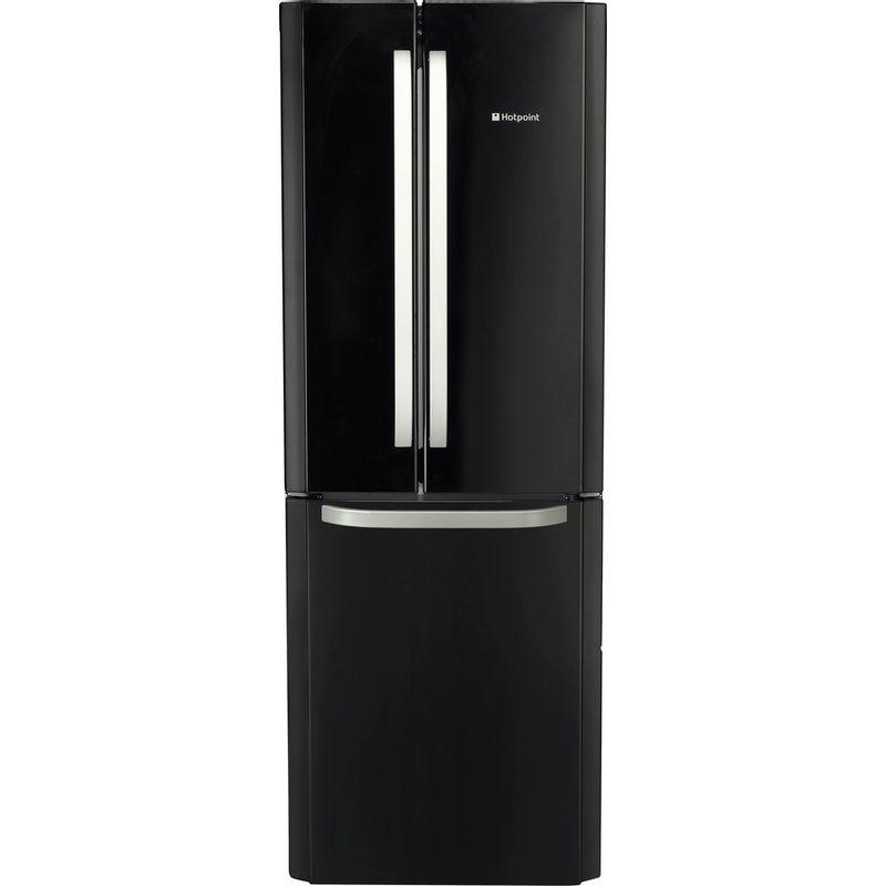 Hotpoint-Fridge-Freezer-Free-standing-FFU3D-K-1-Black-3-doors-Frontal