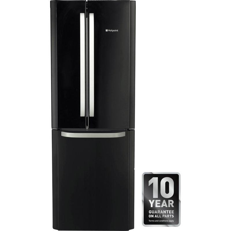 Hotpoint-Fridge-Freezer-Free-standing-FFU3D-K-1-Black-3-doors-Award