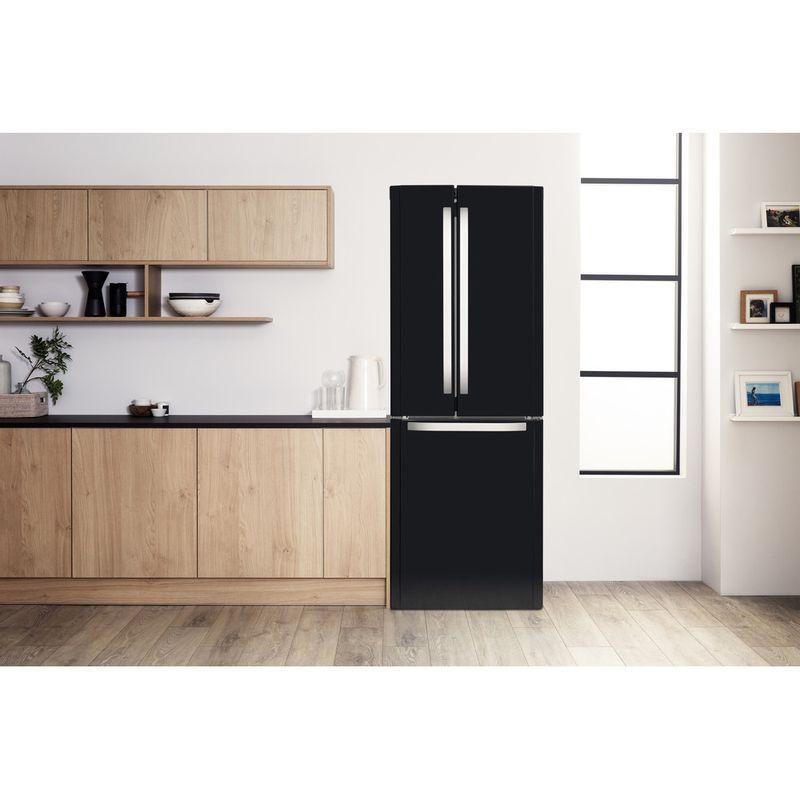 Hotpoint-Fridge-Freezer-Free-standing-FFU3D-K-1-Black-3-doors-Lifestyle-frontal