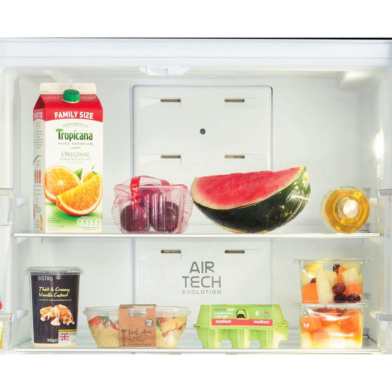 Hotpoint-Fridge-Freezer-Free-standing-FFU3D-K-1-Black-3-doors-Drawer