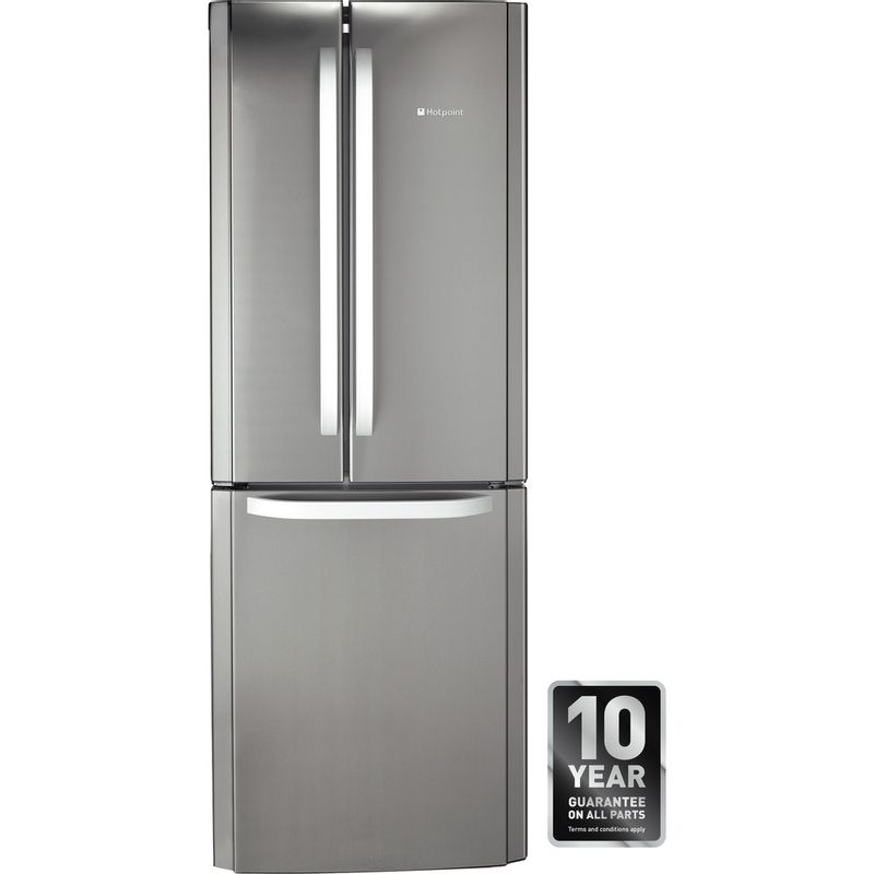 Hotpoint-Fridge-Freezer-Free-standing-FFU3D-X-1-Inox-3-doors-Award