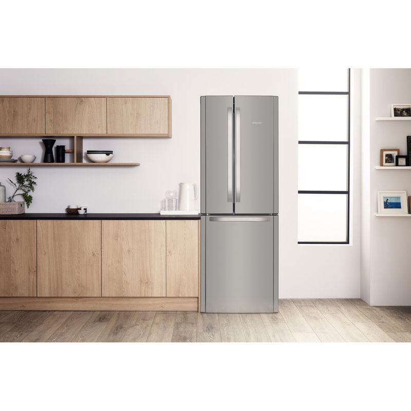 Hotpoint-Fridge-Freezer-Free-standing-FFU3D-X-1-Inox-3-doors-Lifestyle-frontal