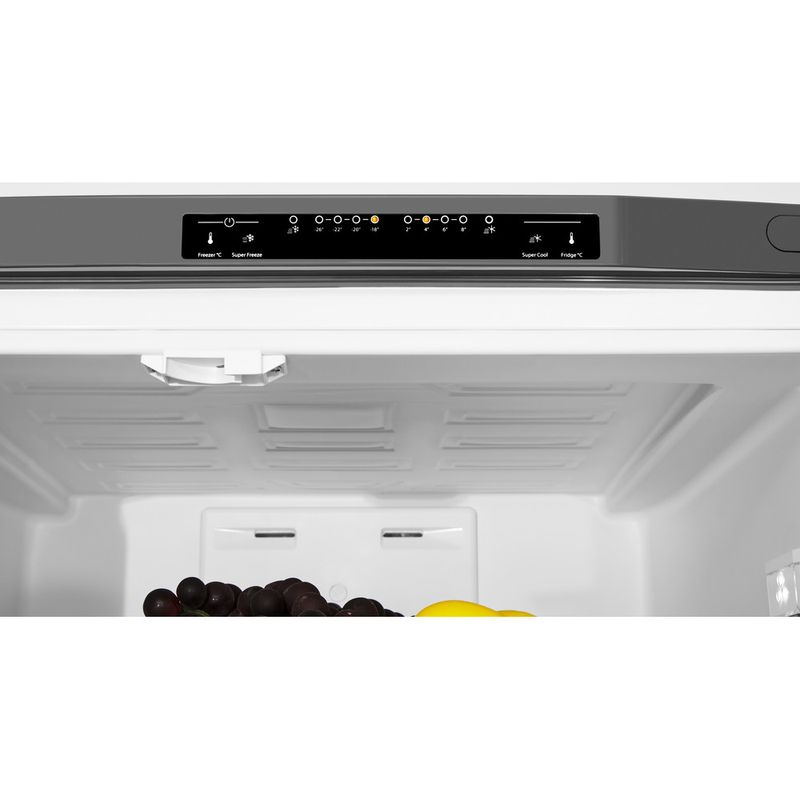 Hotpoint-Fridge-Freezer-Free-standing-FFU3D-X-1-Inox-3-doors-Lifestyle-control-panel