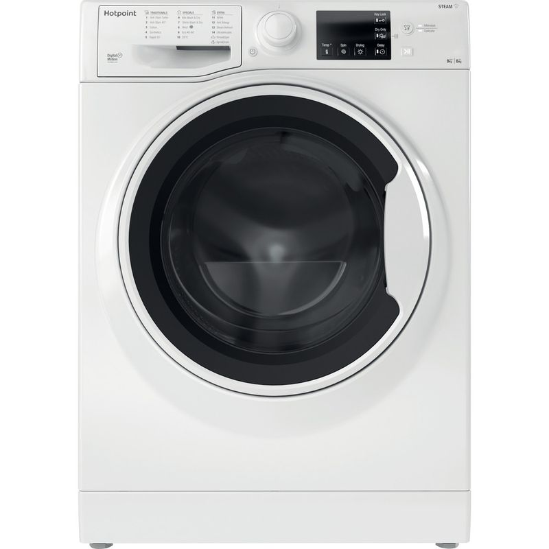 Hotpoint-Washer-dryer-Free-standing-RDG-9643-W-UK-N-White-Front-loader-Frontal