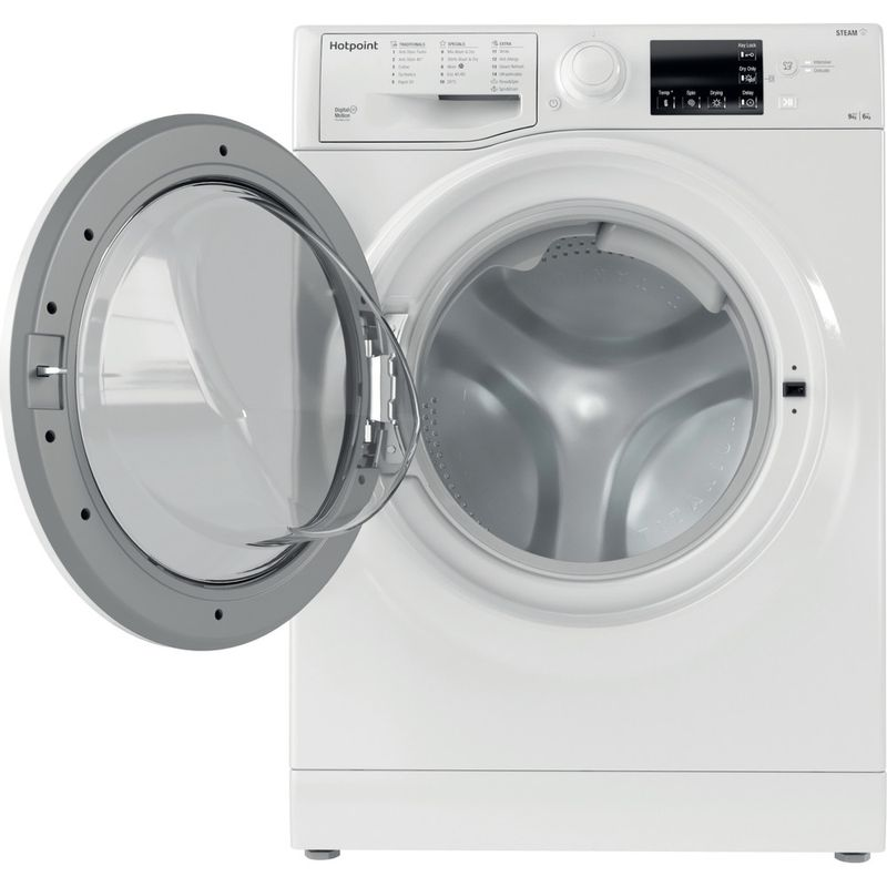 Hotpoint-Washer-dryer-Free-standing-RDG-9643-W-UK-N-White-Front-loader-Frontal-open