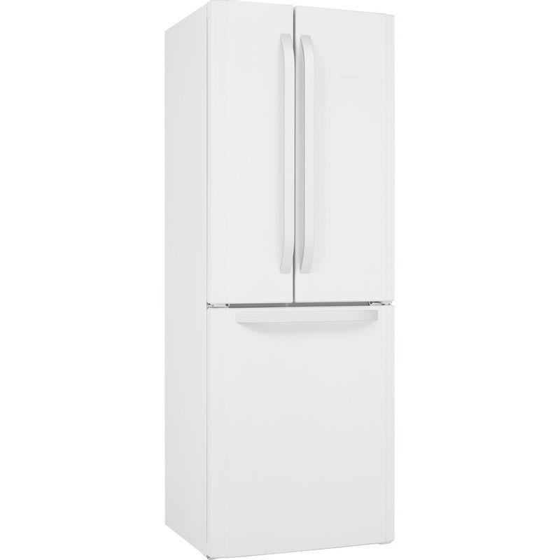 Hotpoint-Fridge-Freezer-Free-standing-FFU3D-W-1-White-3-doors-Perspective