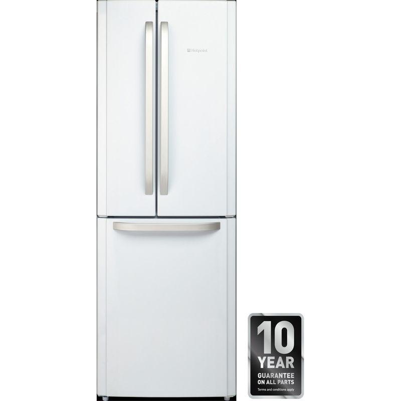 Hotpoint-Fridge-Freezer-Free-standing-FFU3D-W-1-White-3-doors-Award