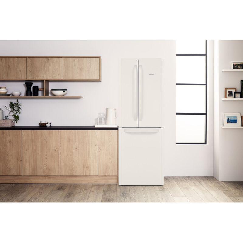 Hotpoint-Fridge-Freezer-Free-standing-FFU3D-W-1-White-3-doors-Lifestyle-frontal