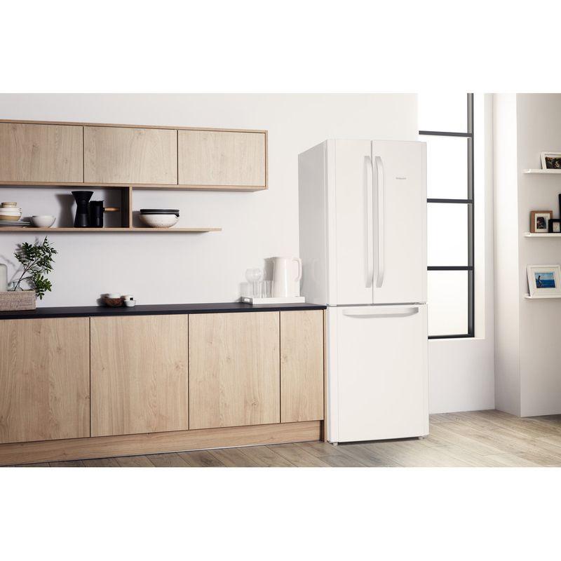Hotpoint-Fridge-Freezer-Free-standing-FFU3D-W-1-White-3-doors-Lifestyle-perspective