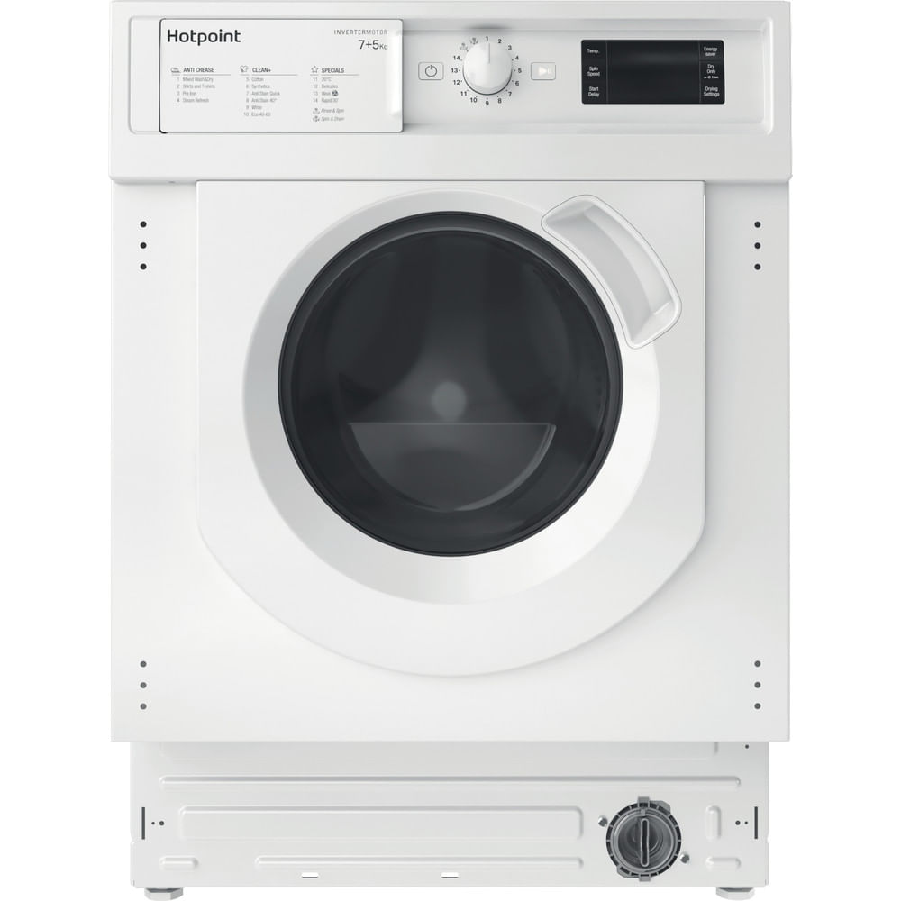 Hotpoint Integrated Washer Dryer BI WDHG 75148 UK N : discover the specifications of our home appliances and bring the innovation into your house and family.