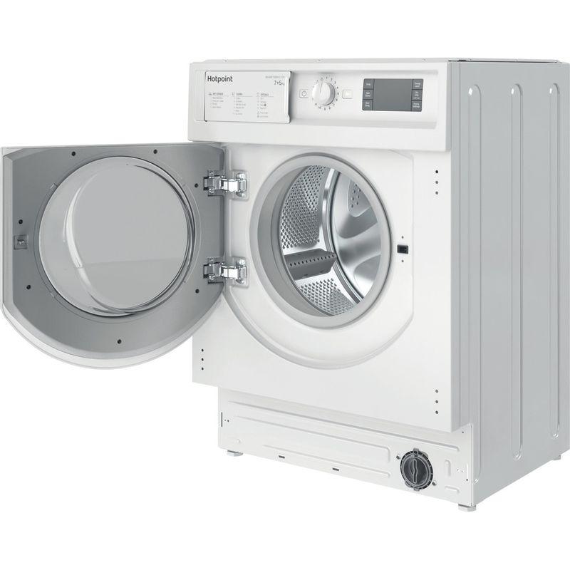 Hotpoint-Washer-dryer-Built-in-BI-WDHG-75148-UK-N-White-Front-loader-Perspective-open