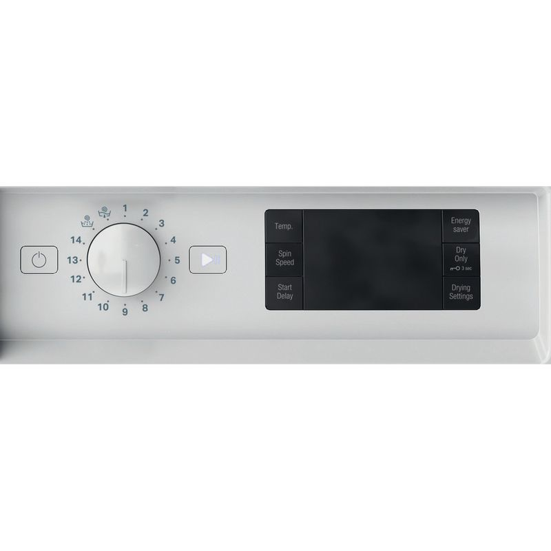 Hotpoint-Washer-dryer-Built-in-BI-WDHG-75148-UK-N-White-Front-loader-Control-panel
