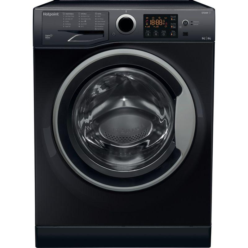 Hotpoint-Washer-dryer-Free-standing-RDGR-9662-KS-UK-N-Black-Front-loader-Frontal
