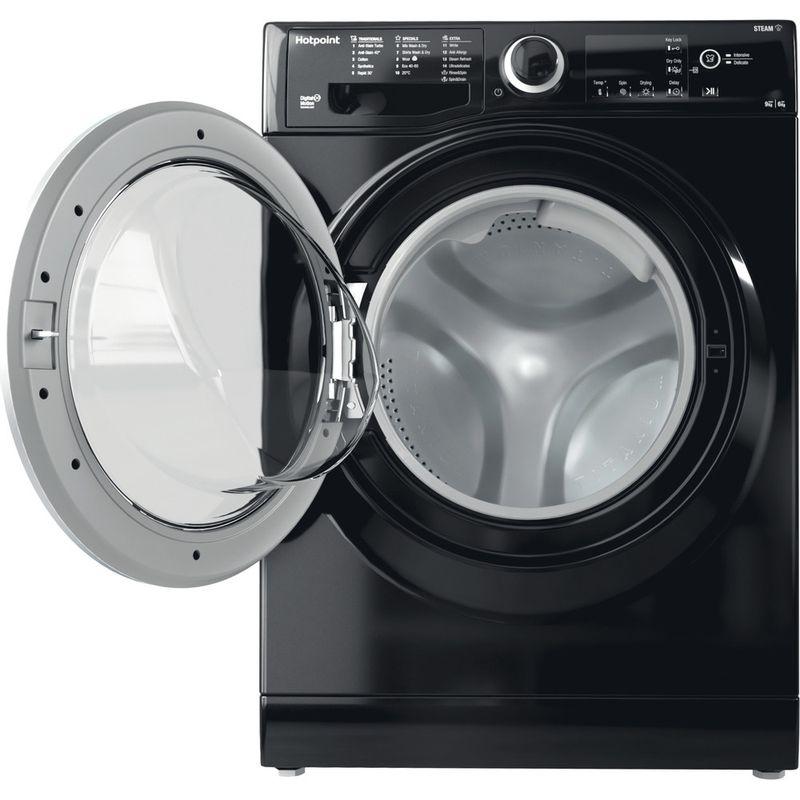 Hotpoint-Washer-dryer-Free-standing-RDGR-9662-KS-UK-N-Black-Front-loader-Frontal-open