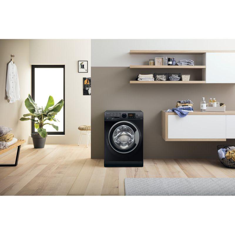 Hotpoint-Washer-dryer-Free-standing-RDGR-9662-KS-UK-N-Black-Front-loader-Lifestyle-frontal