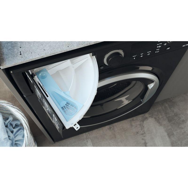Hotpoint-Washer-dryer-Free-standing-RDGR-9662-KS-UK-N-Black-Front-loader-Drawer