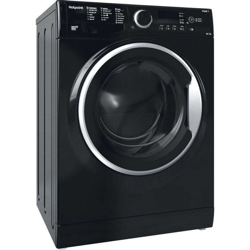 Hotpoint-Washer-dryer-Free-standing-RDG-9643-KS-UK-N-White-Front-loader-Perspective