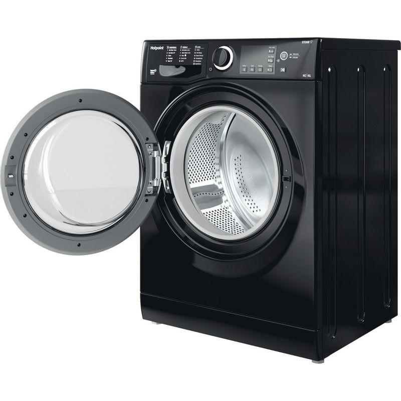 Hotpoint-Washer-dryer-Free-standing-RDG-9643-KS-UK-N-White-Front-loader-Perspective-open