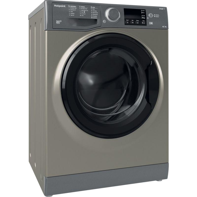 Hotpoint-Washer-dryer-Free-standing-RDG-9643-GK-UK-N-Graphite-Front-loader-Perspective