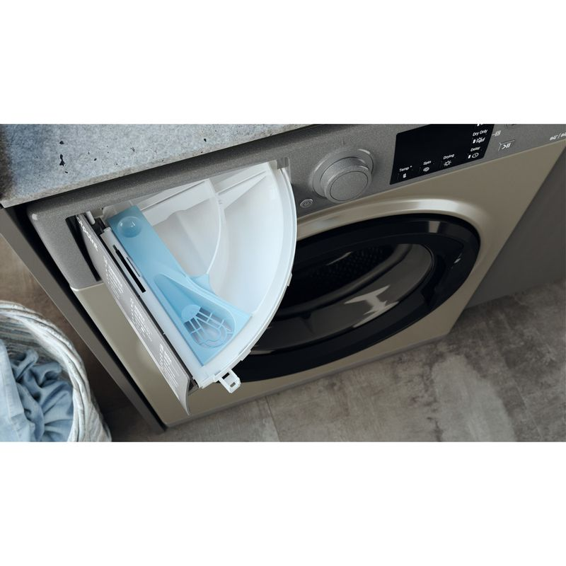 Hotpoint-Washer-dryer-Free-standing-RDG-9643-GK-UK-N-Graphite-Front-loader-Drawer