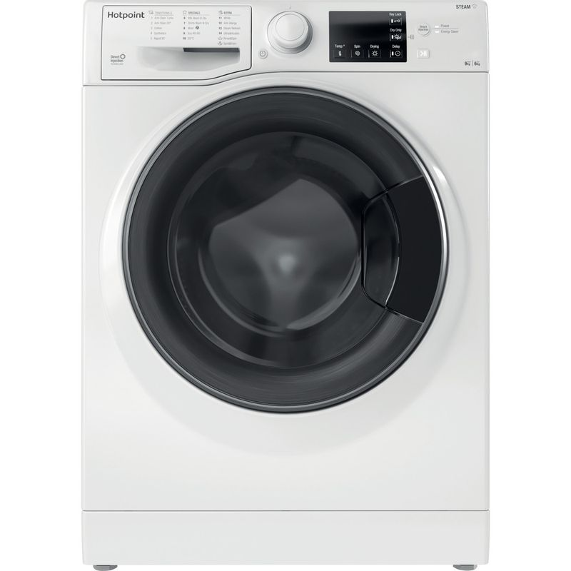 Hotpoint-Washer-dryer-Free-standing-RD-964-JD-UK-N-White-Front-loader-Frontal