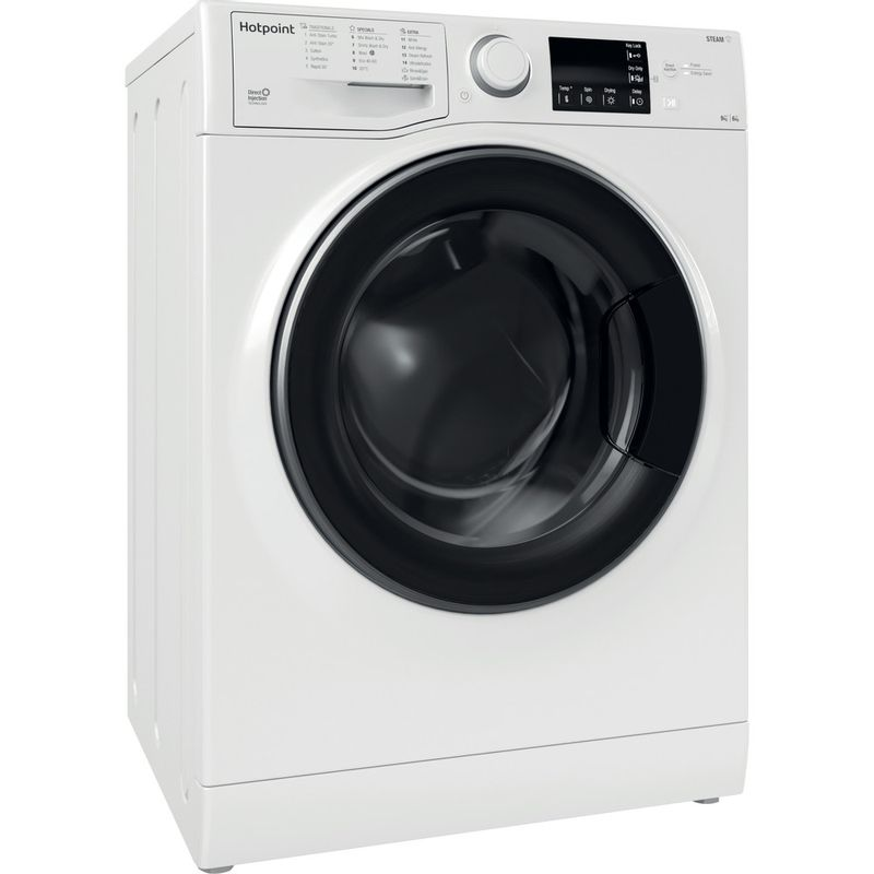 Hotpoint-Washer-dryer-Free-standing-RD-964-JD-UK-N-White-Front-loader-Perspective
