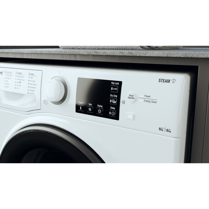 Hotpoint-Washer-dryer-Free-standing-RD-964-JD-UK-N-White-Front-loader-Lifestyle-control-panel