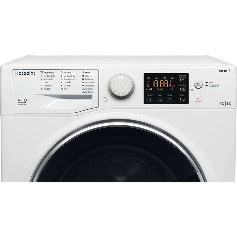 Hotpoint-Washer-dryer-Free-standing-RD-964-JD-UK-N-White-Front-loader-Control-panel