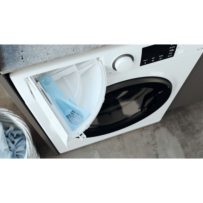 Hotpoint-Washer-dryer-Free-standing-RD-964-JD-UK-N-White-Front-loader-Drawer