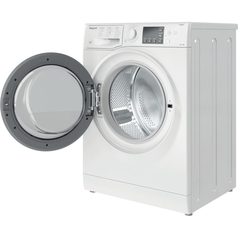 Hotpoint-Washer-dryer-Free-standing-RDG-8643-WW-UK-N-White-Front-loader-Perspective-open