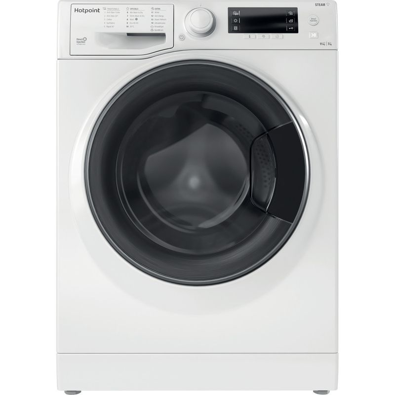 Hotpoint-Washer-dryer-Free-standing-RD-1176-JD-UK-N-White-Front-loader-Frontal