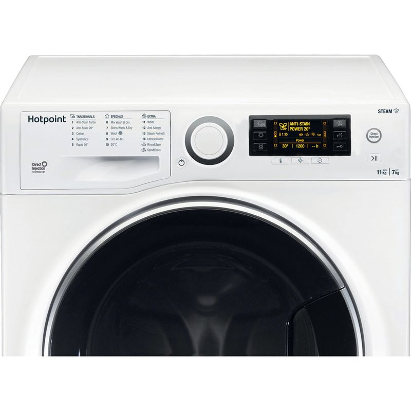 Hotpoint-Washer-dryer-Free-standing-RD-1176-JD-UK-N-White-Front-loader-Control-panel