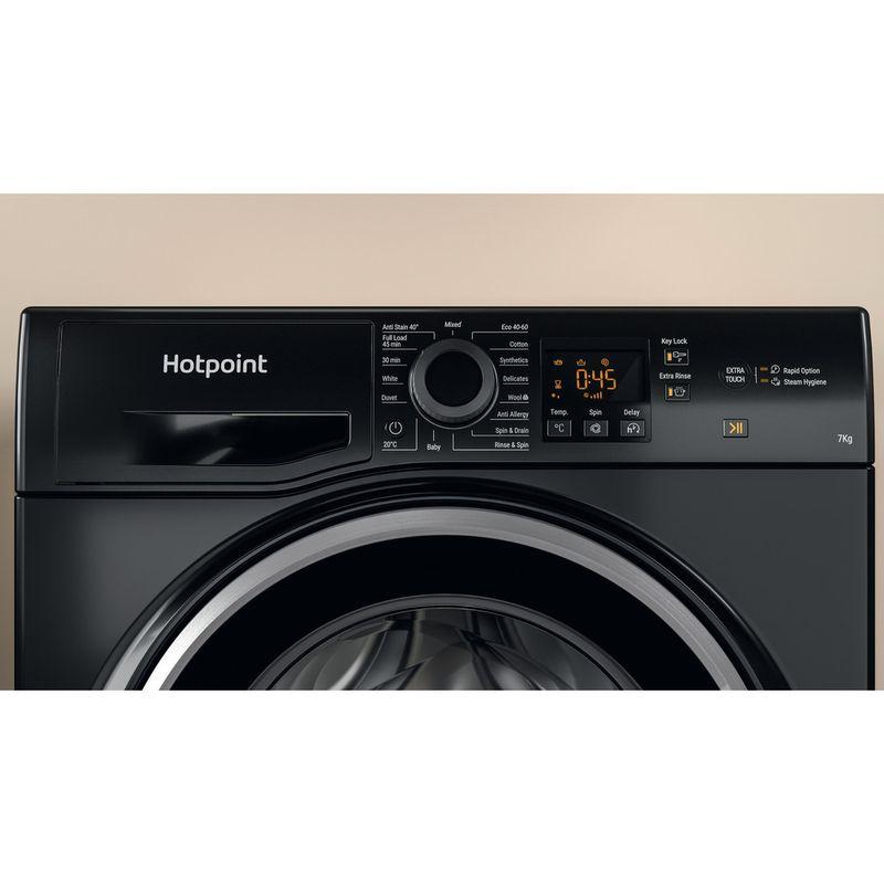 Hotpoint-Washing-machine-Free-standing-NSWF-742U-BS-UK-N-Black-Front-loader-E-Lifestyle-control-panel