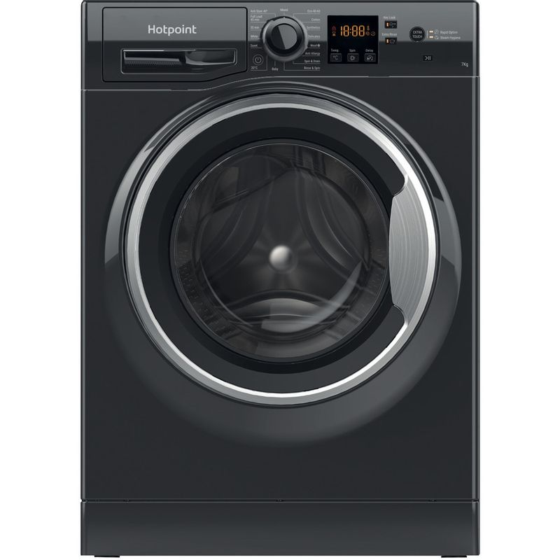 Hotpoint-Washing-machine-Free-standing-NSWM-742U-BS-UK-N-Black-Front-loader-E-Frontal