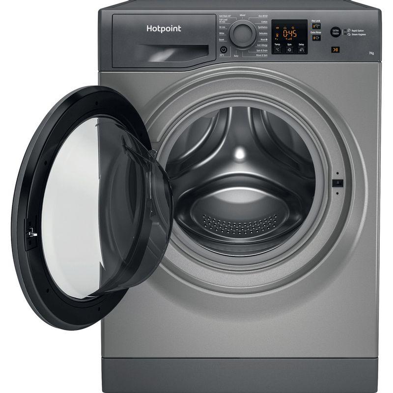 Hotpoint-Washing-machine-Free-standing-NSWM-742U-GG-UK-N-Graphite-Front-loader-E-Frontal-open
