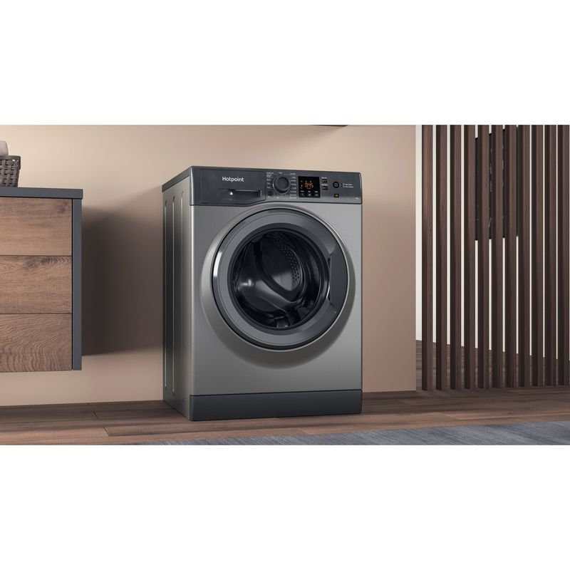 Hotpoint-Washing-machine-Free-standing-NSWM-742U-GG-UK-N-Graphite-Front-loader-E-Lifestyle-perspective