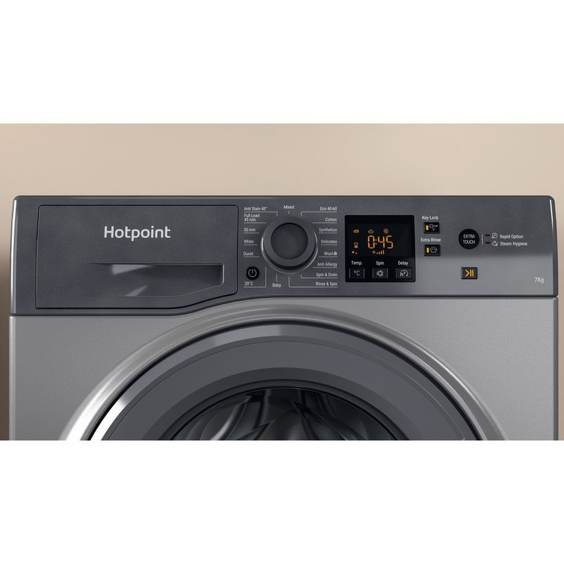 Hotpoint-Washing-machine-Free-standing-NSWM-742U-GG-UK-N-Graphite-Front-loader-E-Lifestyle-control-panel