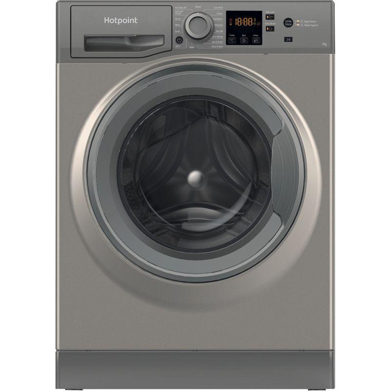 Hotpoint-Washing-machine-Free-standing-NSWF-742U-GG-UK-N-Graphite-Front-loader-E-Frontal